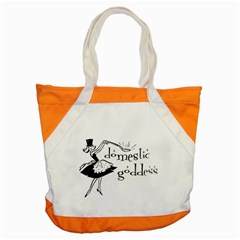 Domestic Goddess Accent Tote Bag  by waywardmuse