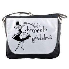 Domestic Goddess Messenger Bags by waywardmuse
