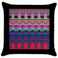 Waves And Other Shapes			throw Pillow Case (black)