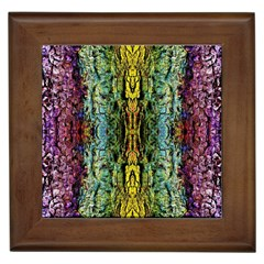 Abstract, Yellow Green, Purple, Tree Trunk Framed Tiles by Costasonlineshop