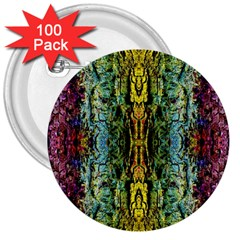 Abstract, Yellow Green, Purple, Tree Trunk 3  Buttons (100 Pack)  by Costasonlineshop