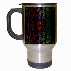 Abstract, Yellow Green, Purple, Tree Trunk Travel Mug (silver Gray)