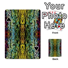 Abstract, Yellow Green, Purple, Tree Trunk Playing Cards 54 Designs  by Costasonlineshop