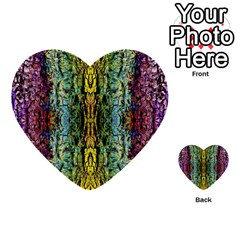Abstract, Yellow Green, Purple, Tree Trunk Multi Purpose Cards (heart)  by Costasonlineshop