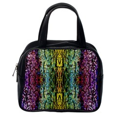 Abstract, Yellow Green, Purple, Tree Trunk Classic Handbags (one Side) by Costasonlineshop