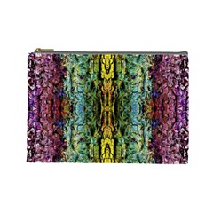 Abstract, Yellow Green, Purple, Tree Trunk Cosmetic Bag (large)  by Costasonlineshop