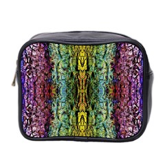 Abstract, Yellow Green, Purple, Tree Trunk Mini Toiletries Bag 2 Side by Costasonlineshop