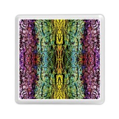 Abstract, Yellow Green, Purple, Tree Trunk Memory Card Reader (square)  by Costasonlineshop