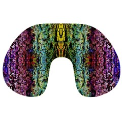 Abstract, Yellow Green, Purple, Tree Trunk Travel Neck Pillows by Costasonlineshop