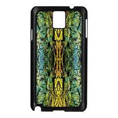 Abstract, Yellow Green, Purple, Tree Trunk Samsung Galaxy Note 3 N9005 Case (black) by Costasonlineshop