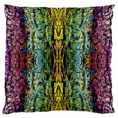 Abstract, Yellow Green, Purple, Tree Trunk Large Flano Cushion Cases (one Side)  by Costasonlineshop