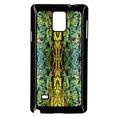 Abstract, Yellow Green, Purple, Tree Trunk Samsung Galaxy Note 4 Case (black) by Costasonlineshop