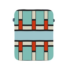 Vertical And Horizontal Rectangles			apple Ipad 2/3/4 Protective Soft Case by LalyLauraFLM
