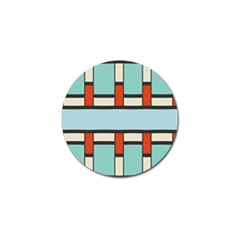 Vertical And Horizontal Rectangles			golf Ball Marker (4 Pack) by LalyLauraFLM