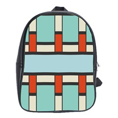 Vertical And Horizontal Rectangles			school Bag (large) by LalyLauraFLM