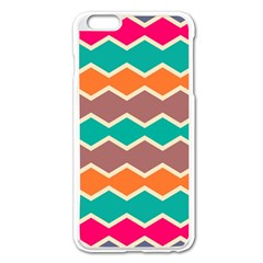 Colorful Chevrons Pattern			apple Iphone 6 Plus/6s Plus Enamel White Case by LalyLauraFLM