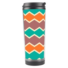 Colorful Chevrons Pattern Travel Tumbler by LalyLauraFLM