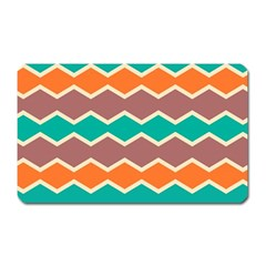Colorful Chevrons Pattern			magnet (rectangular) by LalyLauraFLM