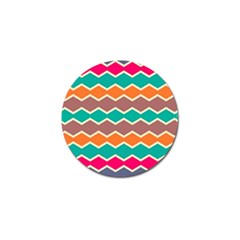 Colorful Chevrons Pattern			golf Ball Marker (4 Pack) by LalyLauraFLM