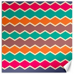 Colorful Chevrons Pattern			canvas 20  X 20  by LalyLauraFLM