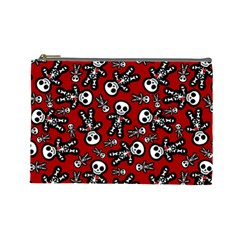 Skeleton Cuties Cosmetic Bag (large) by Ellador