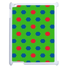 Honeycombs Pattern			apple Ipad 2 Case (white) by LalyLauraFLM