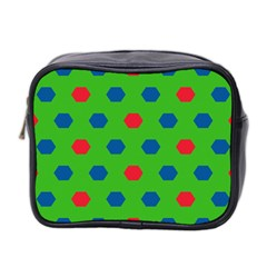 Honeycombs Pattern Mini Toiletries Bag (two Sides) by LalyLauraFLM