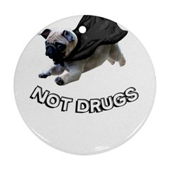 Do Pugs Round Ornament (two Sides)