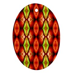 Melons Pattern Abstract Ornament (oval)  by Costasonlineshop