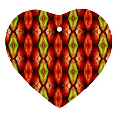 Melons Pattern Abstract Ornament (heart)  by Costasonlineshop