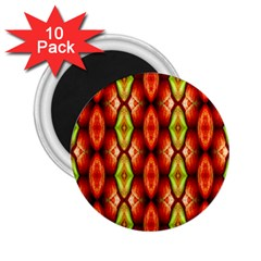 Melons Pattern Abstract 2 25  Magnets (10 Pack)  by Costasonlineshop