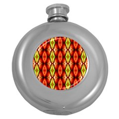 Melons Pattern Abstract Round Hip Flask (5 Oz) by Costasonlineshop