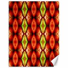 Melons Pattern Abstract Canvas 18  X 24   by Costasonlineshop