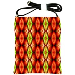 Melons Pattern Abstract Shoulder Sling Bags