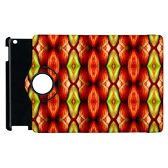 Melons Pattern Abstract Apple Ipad 3/4 Flip 360 Case by Costasonlineshop