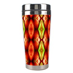 Melons Pattern Abstract Stainless Steel Travel Tumblers by Costasonlineshop