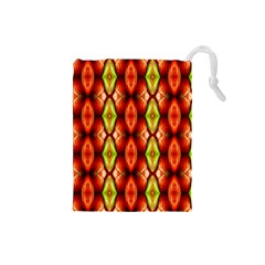 Melons Pattern Abstract Drawstring Pouches (small)  by Costasonlineshop