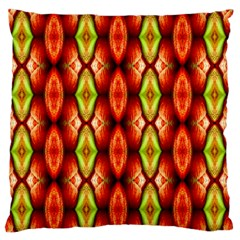 Melons Pattern Abstract Large Flano Cushion Cases (two Sides)  by Costasonlineshop