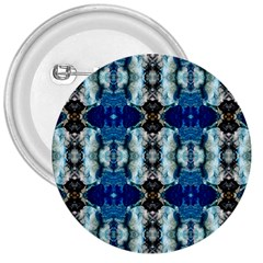 Royal Blue Abstract Pattern 3  Buttons by Costasonlineshop