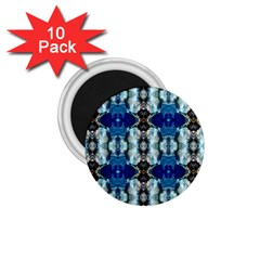 Royal Blue Abstract Pattern 1 75  Magnets (10 Pack)  by Costasonlineshop