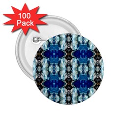 Royal Blue Abstract Pattern 2 25  Buttons (100 Pack)  by Costasonlineshop