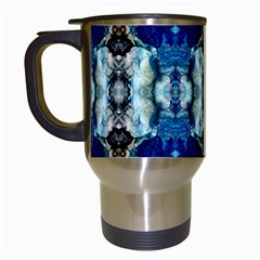 Royal Blue Abstract Pattern Travel Mugs (white) by Costasonlineshop
