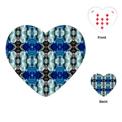 Royal Blue Abstract Pattern Playing Cards (heart)  by Costasonlineshop