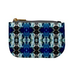Royal Blue Abstract Pattern Mini Coin Purses by Costasonlineshop