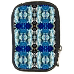 Royal Blue Abstract Pattern Compact Camera Cases by Costasonlineshop