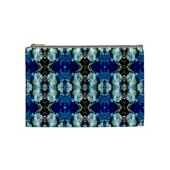 Royal Blue Abstract Pattern Cosmetic Bag (medium)  by Costasonlineshop