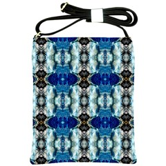 Royal Blue Abstract Pattern Shoulder Sling Bags by Costasonlineshop