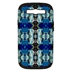 Royal Blue Abstract Pattern Samsung Galaxy S Iii Hardshell Case (pc+silicone) by Costasonlineshop