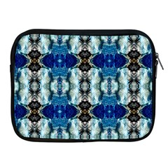 Royal Blue Abstract Pattern Apple Ipad 2/3/4 Zipper Cases by Costasonlineshop