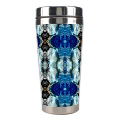 Royal Blue Abstract Pattern Stainless Steel Travel Tumblers by Costasonlineshop